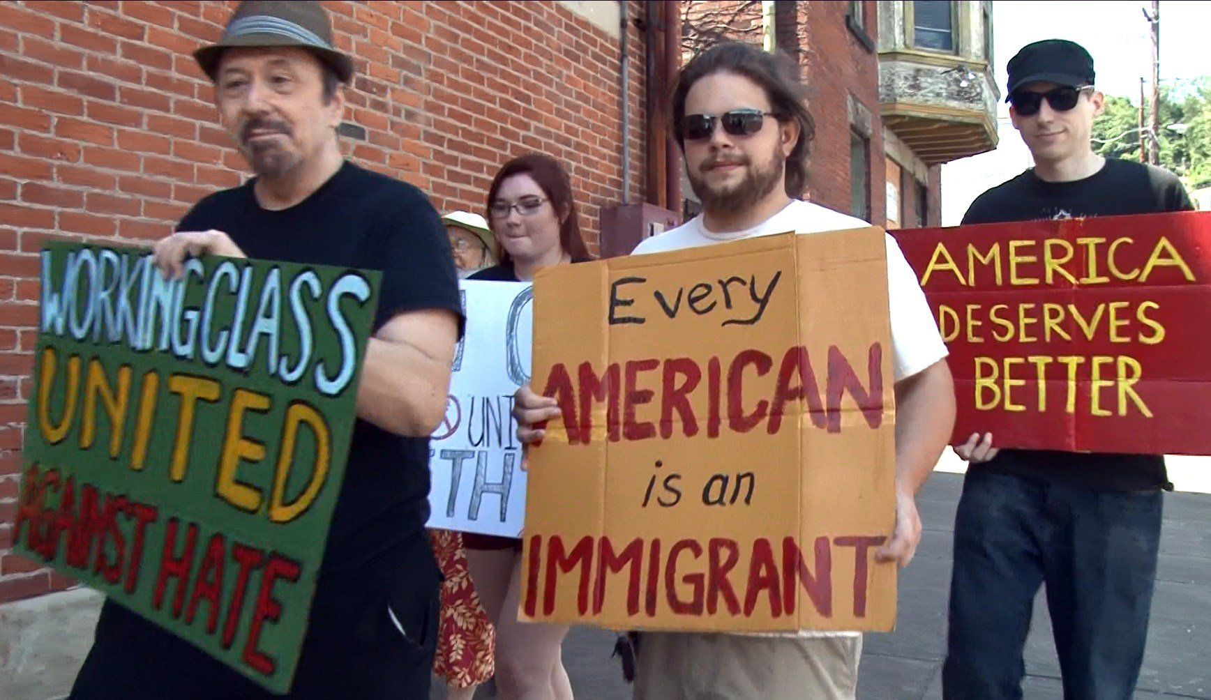 Trump protesters take to the streets in Wheeling, WV.