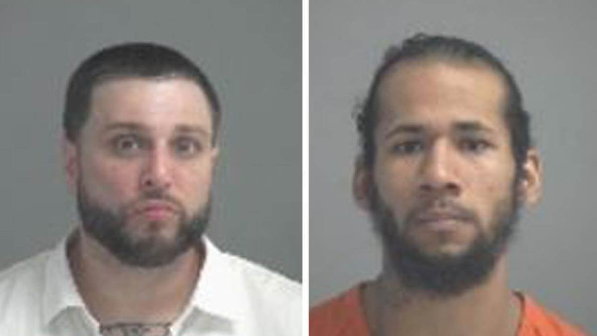 Mickey Hardy (L) has been taken into custody. Jordan Chapman (R) remains at large.