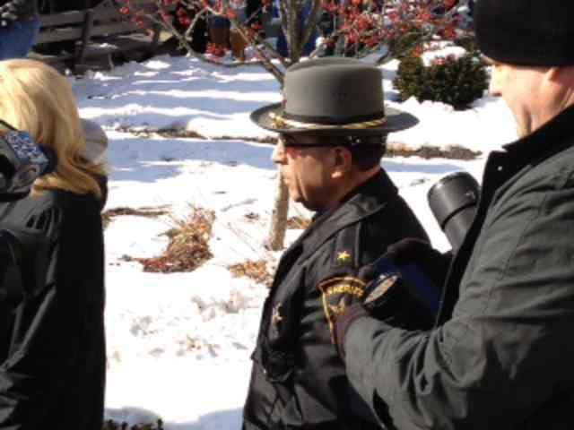 Sheriff Fred Abdalla at the second &quot;Occupy Steubenville&quot; protest