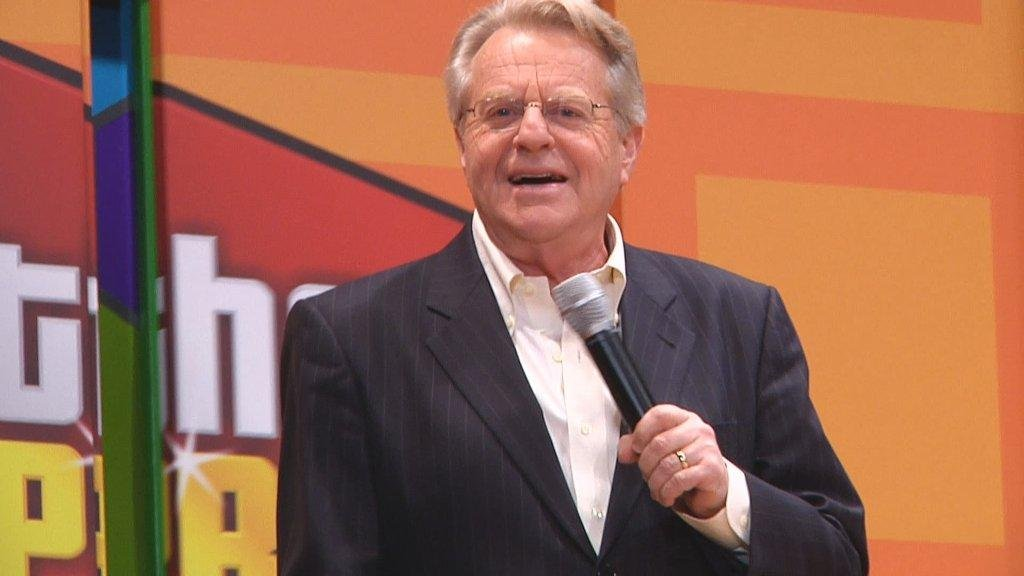 "Jerry Springer at rehearsal for ""The Price is Right - Live"""