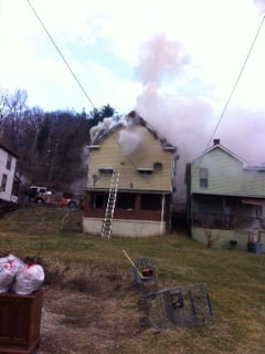 Crews from the Wheeling Fire Department are at the scene
