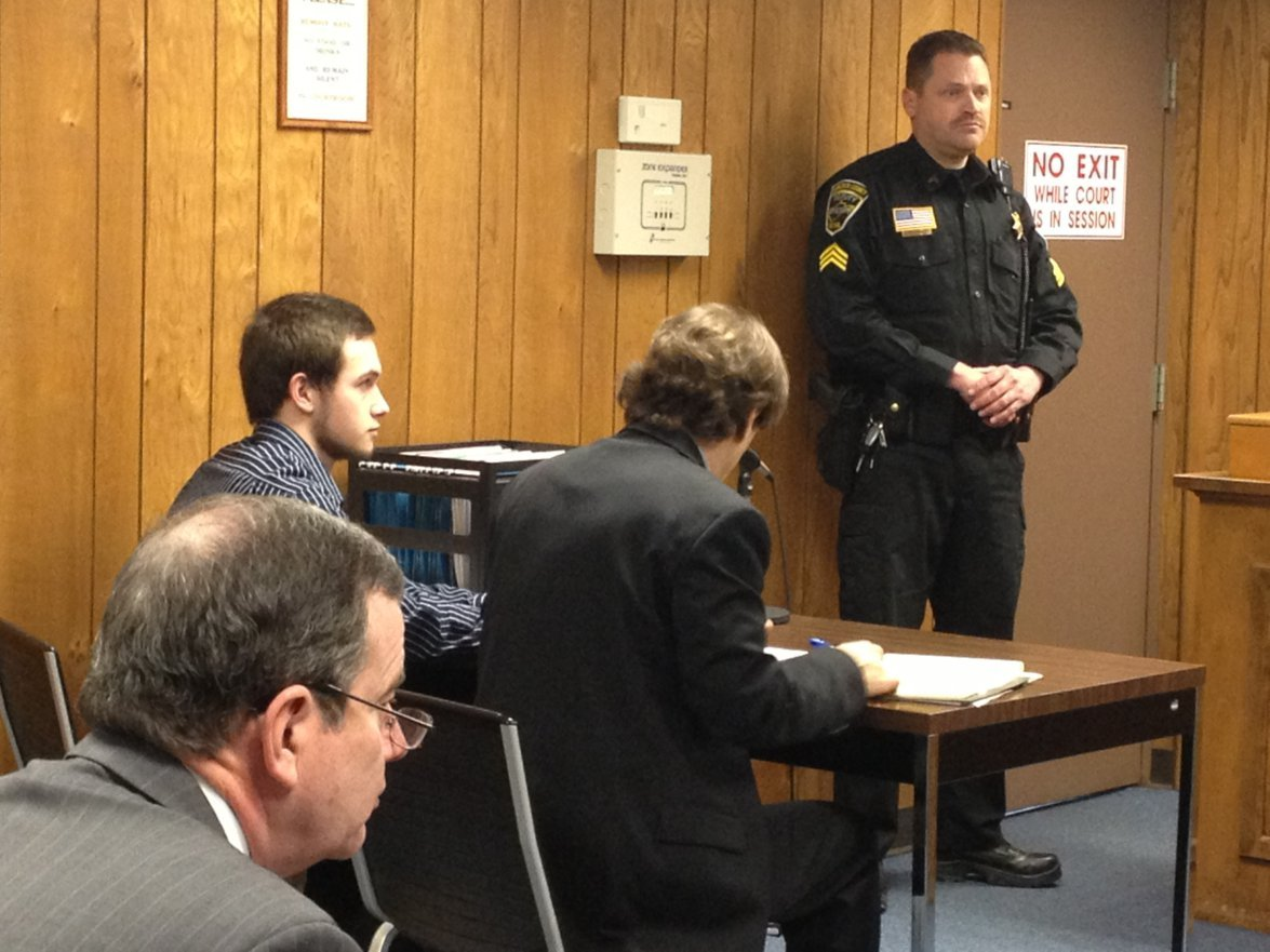Tyler Graham appears in court Friday morning.
