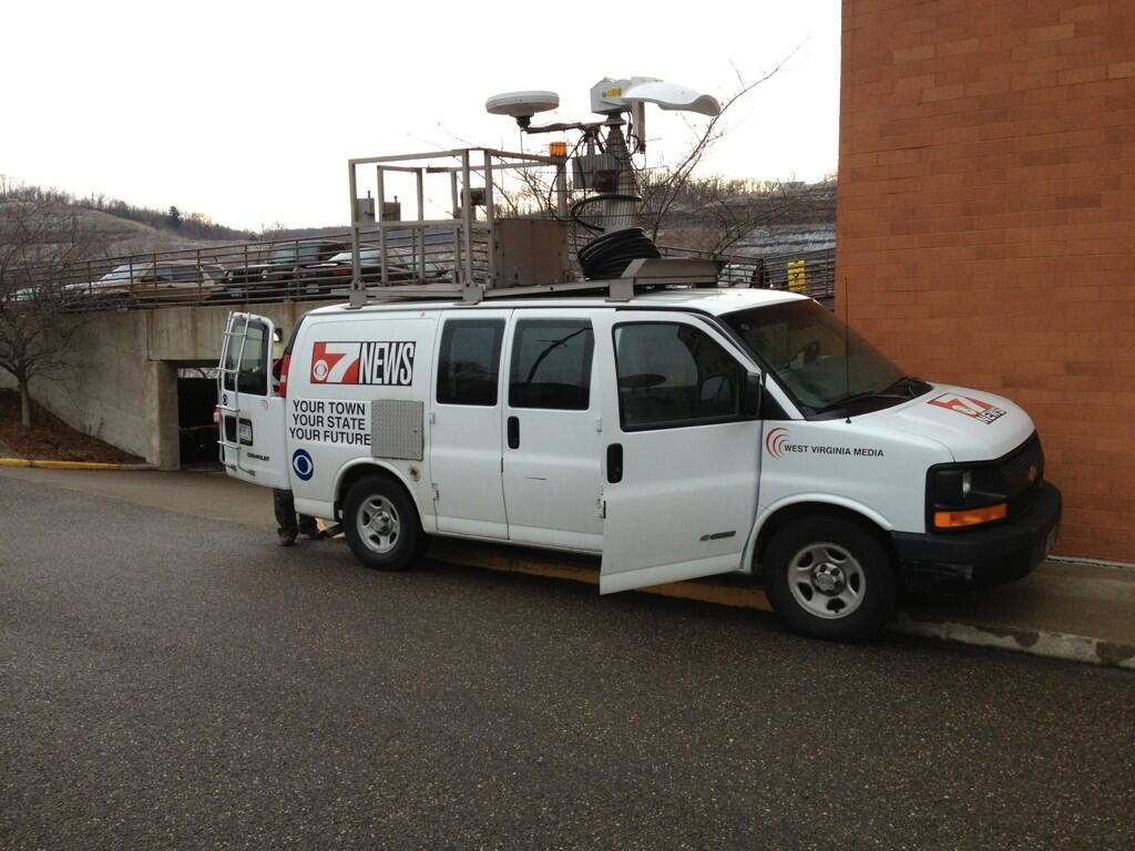 The WTRF News truck is shown in Steubenville.