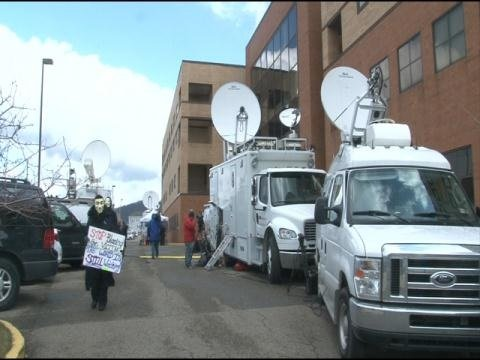 Fox News, CNN, and network affiliates from all over are pouring into Steubenville to cover the trial