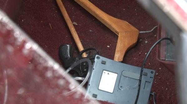 A gun was found inside the car.