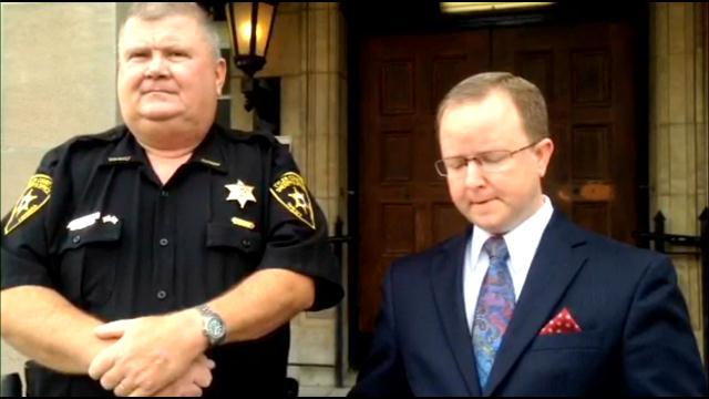 Tyler County Prosecutor Luke Furbee and Tyler County Sheriff Bob Kendle