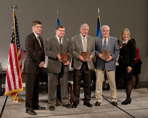 Gary Weldon, Larry Wildman, and Don Wood were recognized at a ceremony held in   Washington, DC on Thursday for their service during an assault on the Wheeling Federal Building on  October 9, 2013.