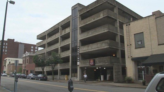Wheeling Police still on the hunt for a man who let off a round of shots at the McLure Hotel parking garage in Wheeling, WV.