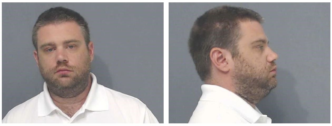 Eric Warfel, was arrested without incident in Westlake