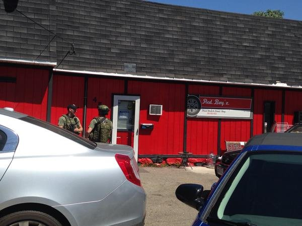 SWAT Team and the Ohio County Drug Task Force raided RedBoyz business in North Wheeling