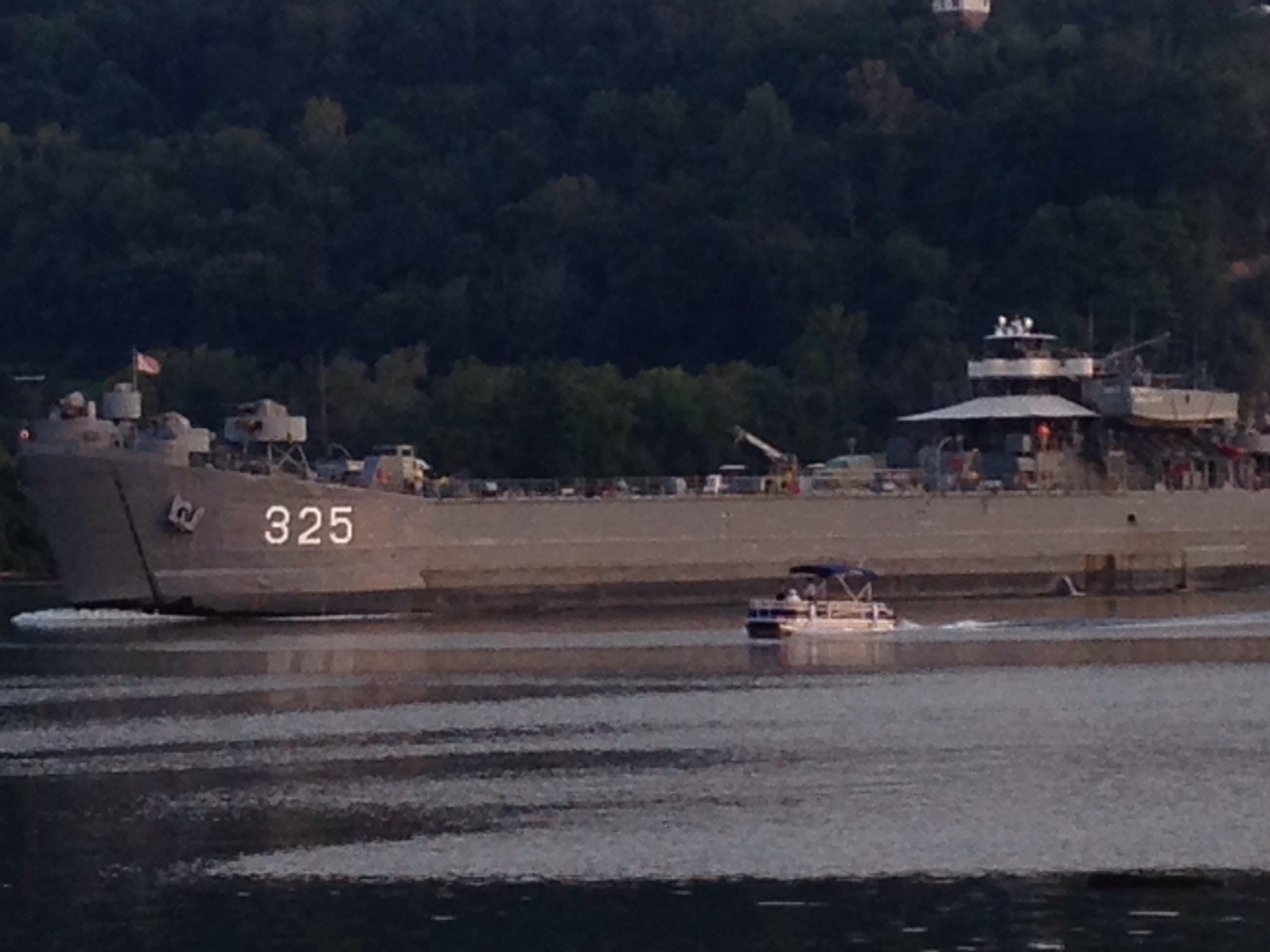 USS LST-325 will stay docked on the North Shore in Pittsburgh until September 8