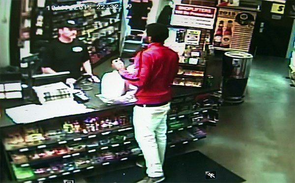 Clerks tell police that Blackmon claimed to have a gun and a fight ensued between him and the clerks.
